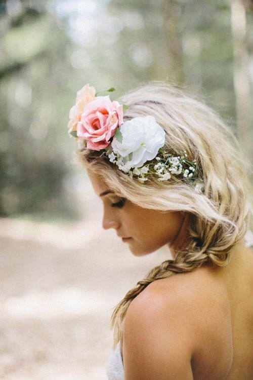 bohemian-bride-hair-wedding-bohemian-hippie-pinterest