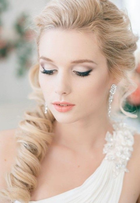 Beautiful-Bridal-Makeup-Using-Soft-Colors-2015-For-Girls-3