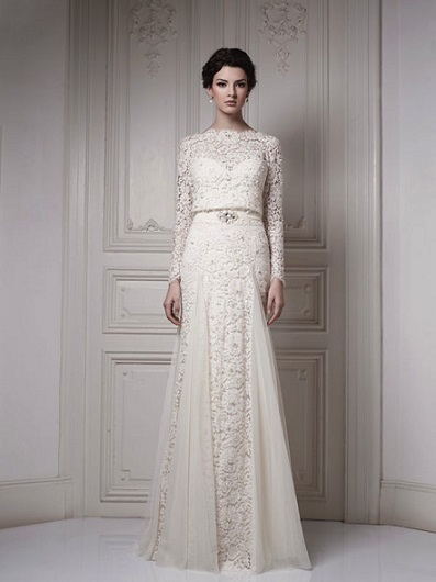 Modern-Wedding-Lace-Dresses-2015-With-Long-Sleeves-To-Try-This-Summer